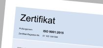 Download Zertifikat ISO9001-2015
